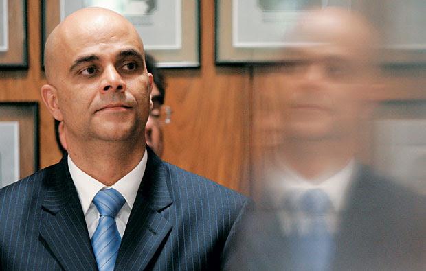 ELO  O empresário Marcos Valério. Ele é acusado de ter viabilizado o mensalão por meio de suas agências (Foto: Beto Barata/AE )