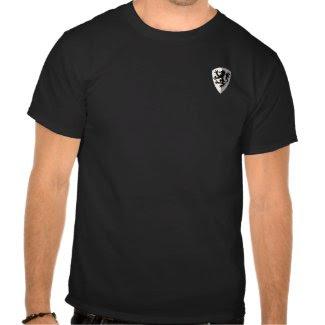 William Marshal Black & White w/ Black Lion Shirt zazzle_shirt