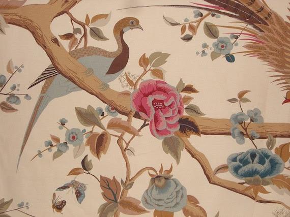 Pheasant Design Pure Cotton Canvas Fabric--One Yard
