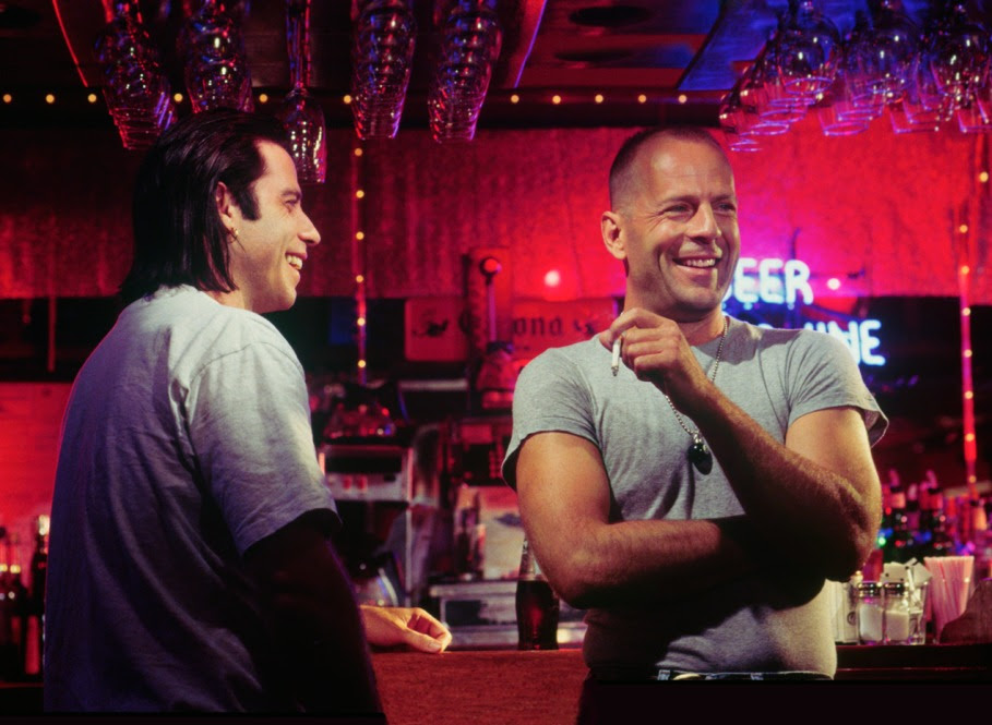 John Travolta and Bruce Willis 27 Years After Pulp Fiction
