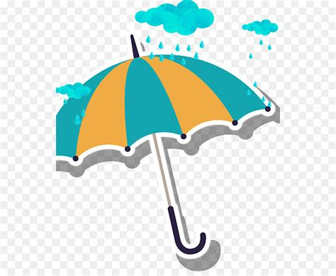 cartoon rain umbrella  transprent png