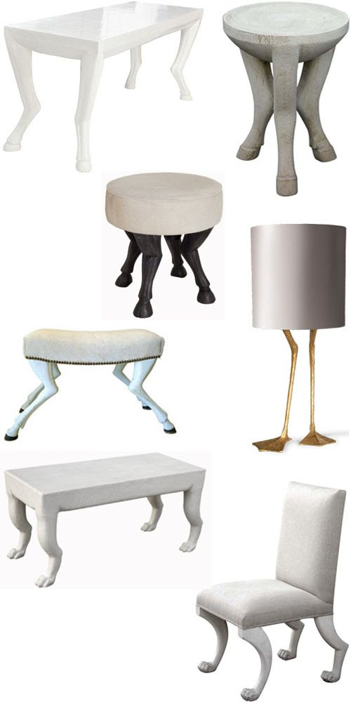animal leg furniture interior design