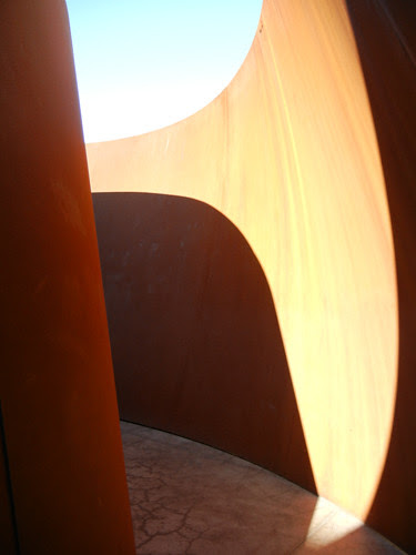 Steel Sculpture by Richard Serra, Cantor Arts Center, Stanford University _ 8349