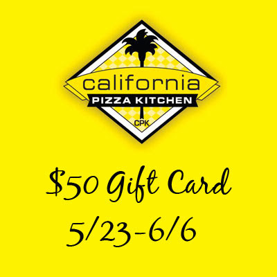 California Pizza Kitchen $50 Gift Card Giveaway