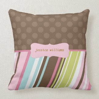 Stripes & Polka Dots throwpillow