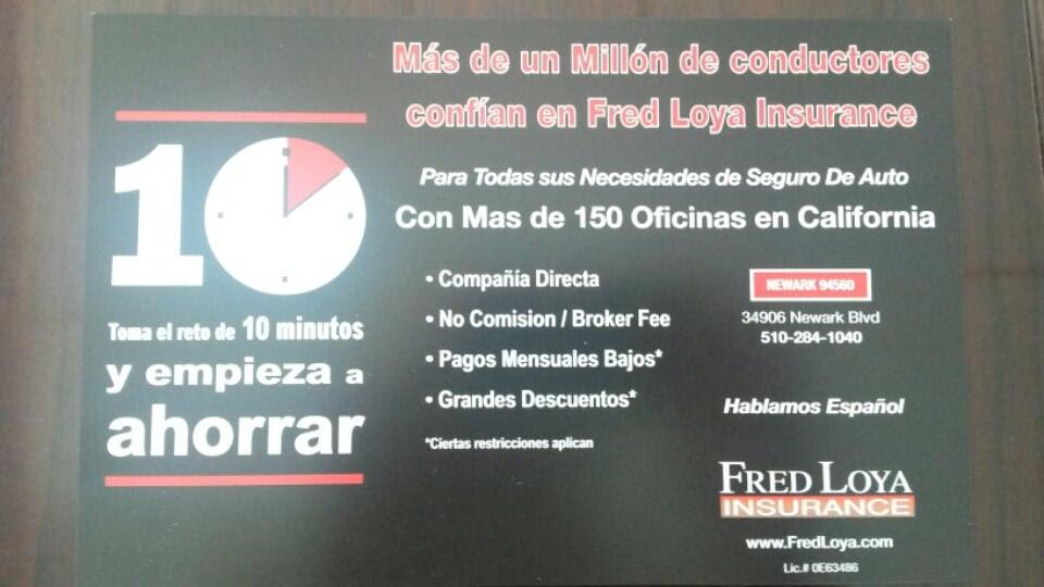 Fred Loya Insurance Flyer in Spanish | Yelp