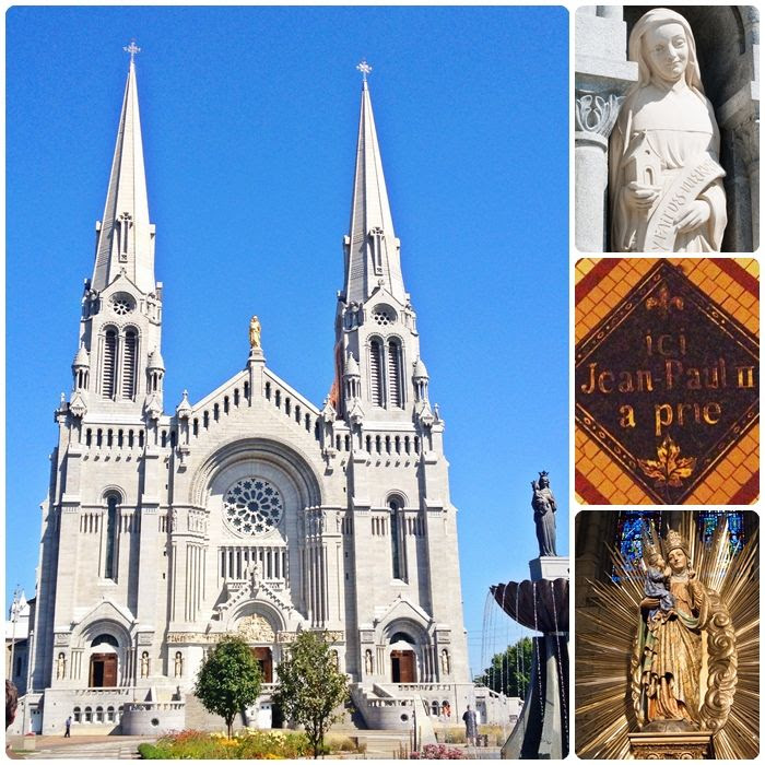 Basilica of Sainte-Anne-de-Beaupré, just outside Quebec City
