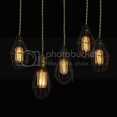 Early 2oth Century Industrial Cage Lights 2