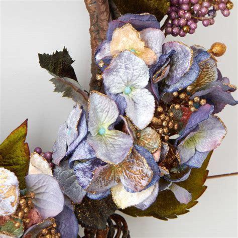 Lavender Artificial Hydrangea Wreath   Wreaths   Floral