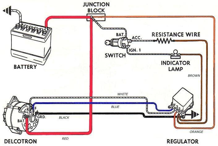 Externally Regulated Alternator Wiring Diagram