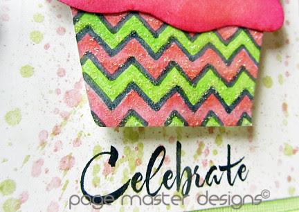 Celebrate cupcake close up