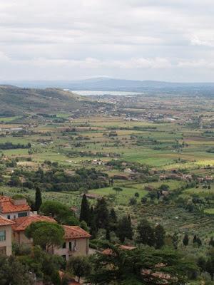 Scenic view from Cortona