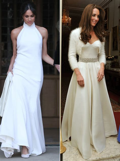 Kate Middleton's 2011 Reception Dress Next to Meghan