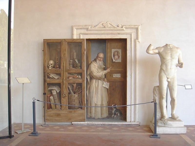 Fil: Terme Diocleziano - Chiostro - finta porta e certosino 00368.JPG