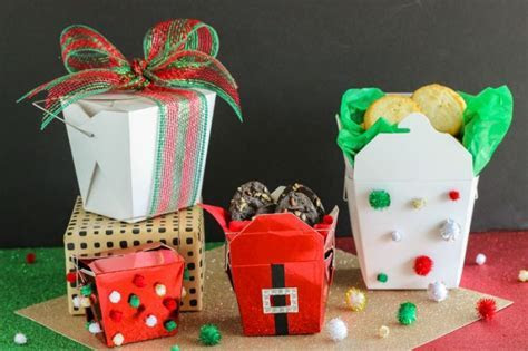 Christmas Cookie Gift Ideas: Chinese Food Containers