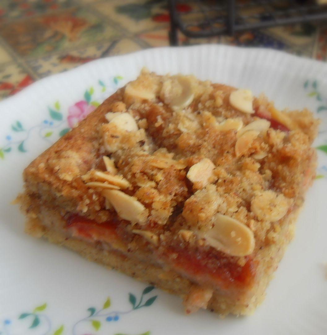 Plum and Hazelnut Crumble Slice