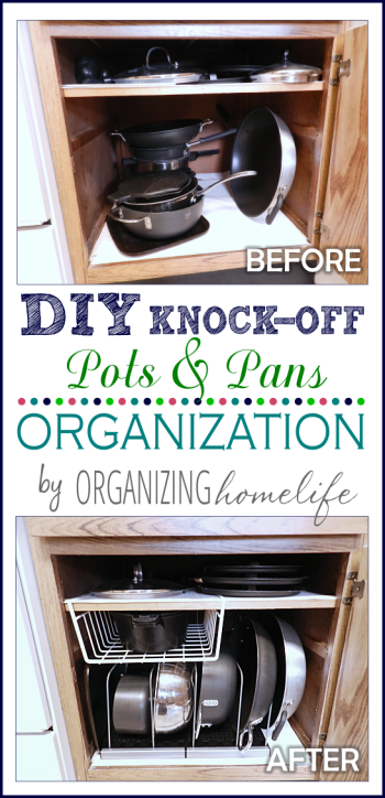 Diy Knock Off Organization For Pots Pans How To Organize Your Kitchen Frugally Day 26 Organizing Homelife