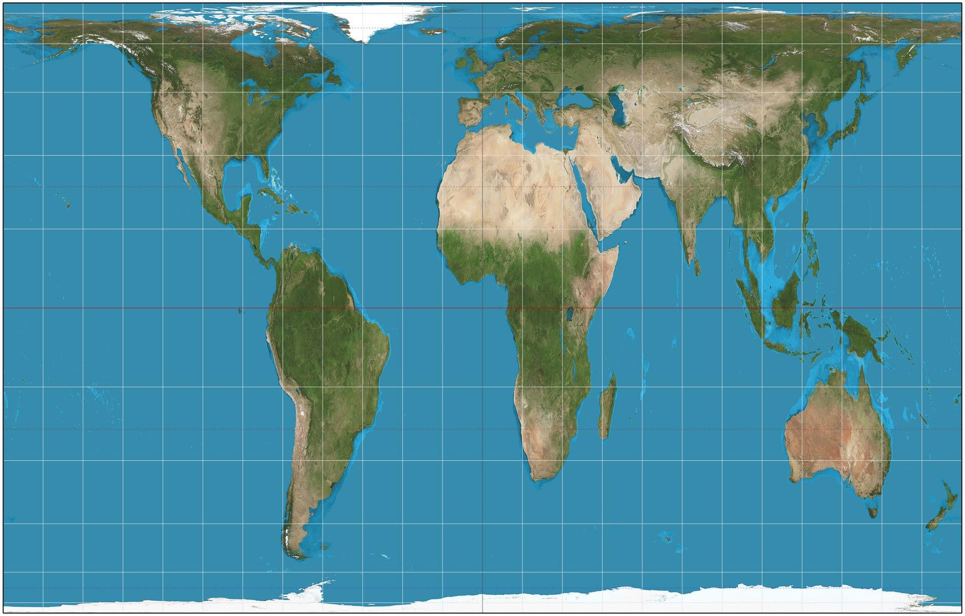 Gall-Petersova projekcija svijetske karte