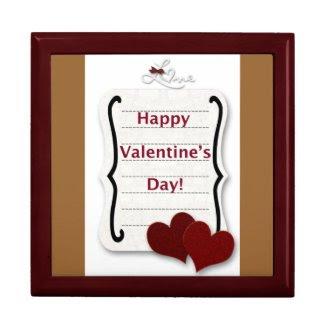 Happy Valentine's Day Heart2Heart Love Note Keepsake Box