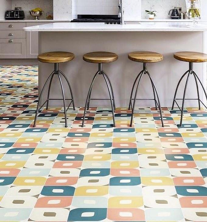 Keramik Dapur Warna Warni   Ide Rumah Minimalis