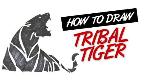 draw tribal tiger tattoo design  youtube