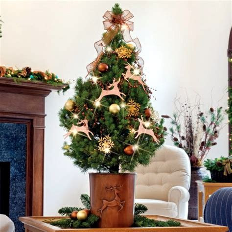 home decorating small christmas tree   table