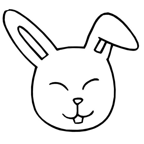 Conejo Caricatura Para Colorear