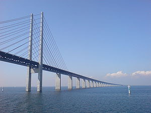 The Öresund Bridge from underneath