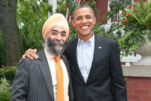 Ocular Therapeutix CEO Amar Sawhney with President Barack Obama