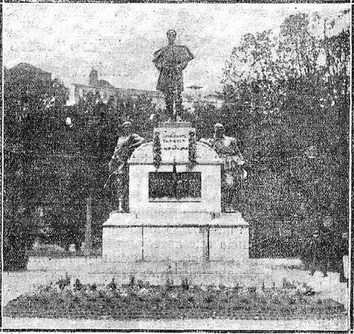 Inauguración del monumento al Comandante Villamartín en Toledo (mayo de 1925)