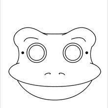 Dibujos Para Colorear Máscara Rana Eshellokidscom