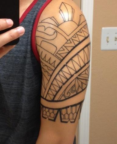 Mann tribal tattoo arm 16+ Armband