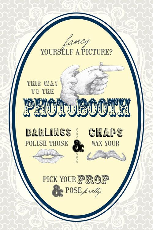 Vintage Style Wedding And Photo Booth Signs Junebug Weddings