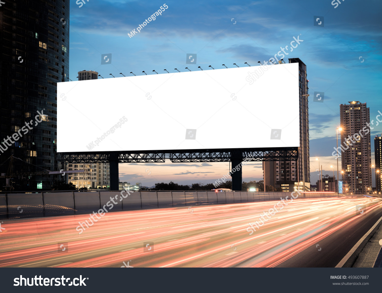 Blank Template Outdoor Advertising Blank Billboard Stock Photo ...