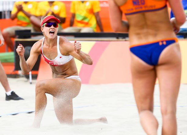 Heather Bansley (CAN) of Canada reacts