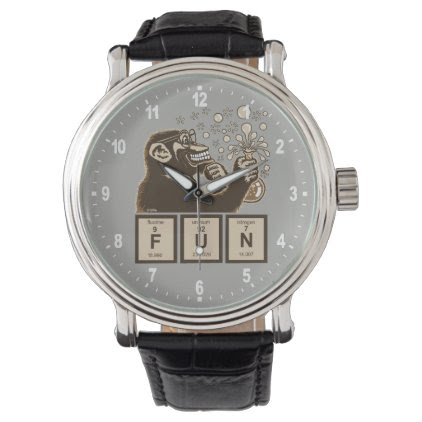 Chemistry monkey discovered fun wristwatch