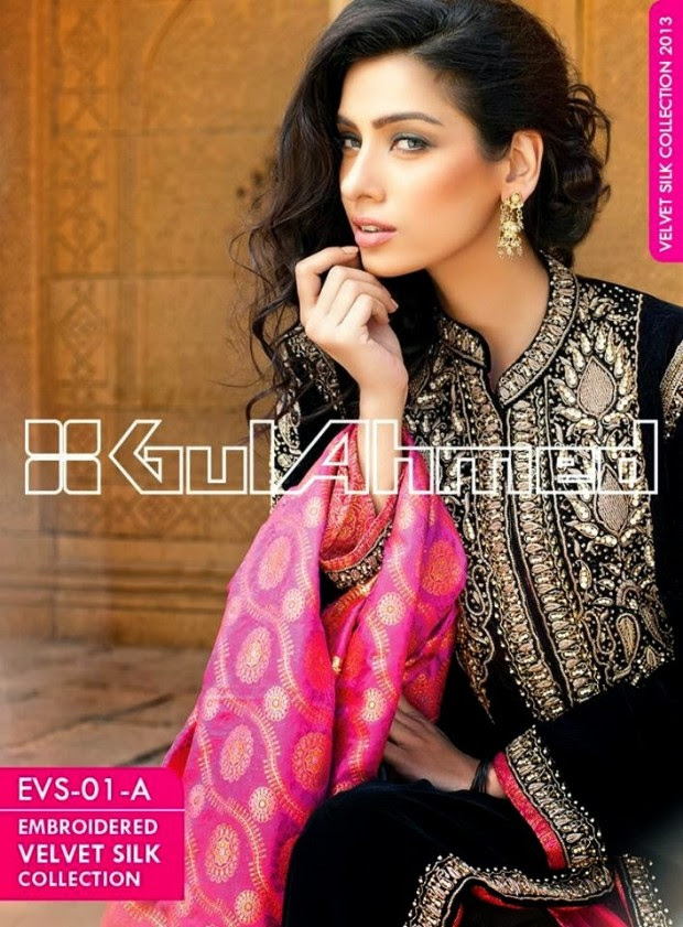 Mens-Women-Wear-Beautiful-Embroidered-Silk-Velvet-Long-Coats-by-Gul-Ahmed-New-Fashion-4