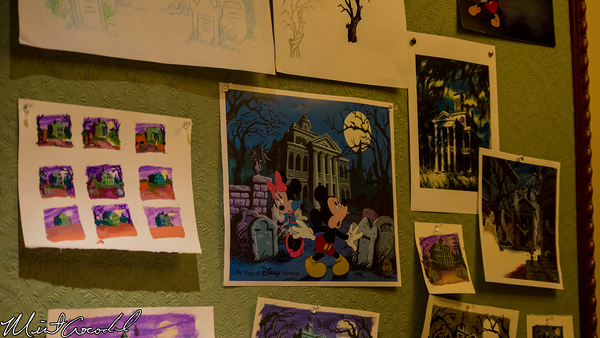 Disneyland Resort, Disneyland, Main Street U.S.A., Disneyana, Disney Gallery, Haunted Mansion, Merchandise, Ink, Paint, Department, Dept