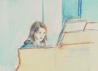 L practicing piano