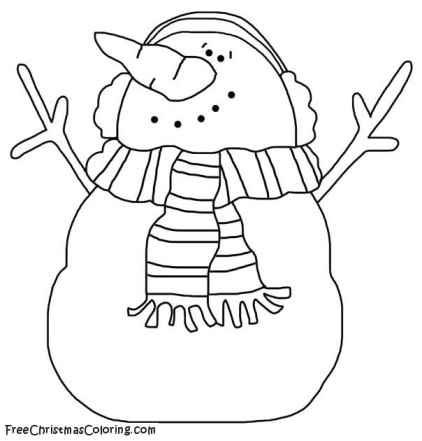 snowman coloring page  winter wonderland snowman