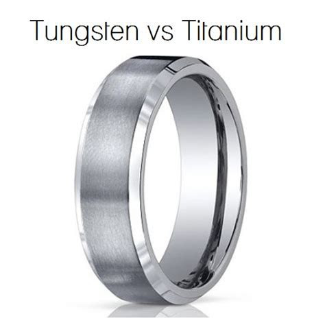 What is the difference between titanium and tungsten rings