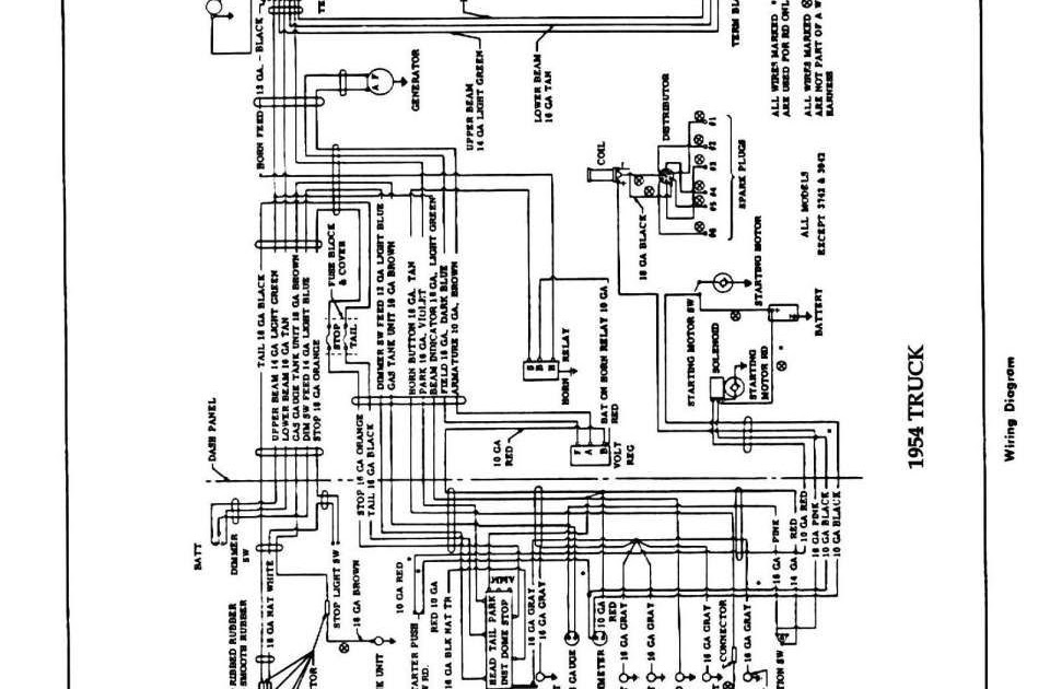1954 chevy truck turn signal wiring diagram