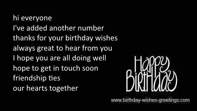 Thank You Birthday Wishes And Thanks Bday Greetings Card Wish