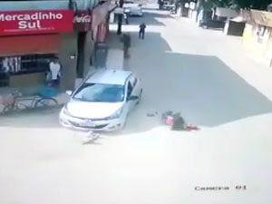 Mãe e filha foram atropelada neste domingo, em Rio Largo FOTO: REPRODUÇÃO