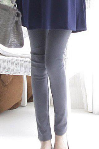 Stylish Solid Color Maternity Leggings For Women