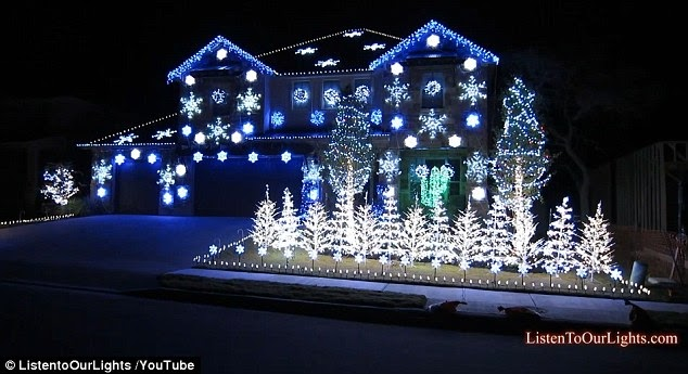 Home owner unveils gangnam style christmas lights show