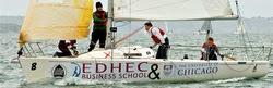 J/80 sportboat sailing EDHEC college regatta