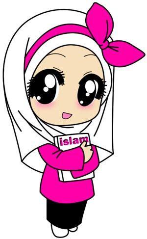 gambar kartun comel wanita muslimah katarikcom