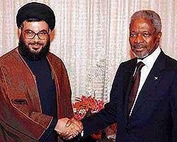 Nasrallah and Kofi Annan