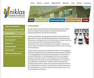 Launch von www.anwaltskanzlei-niklas.de
